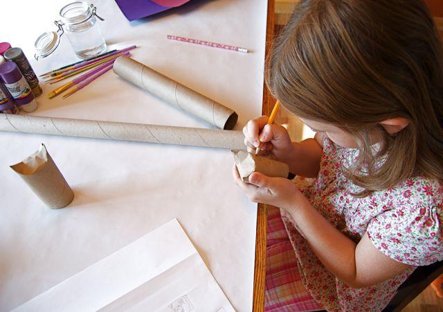 Manualidades para niños: Demarcando