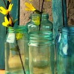 Manualidades: Pintar frascos de vidrio